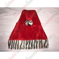 Zebra Red Santa Hat