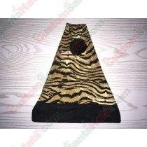 Tiger Santa Hat Black Brim