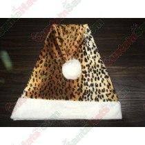 Ski Leopard Plush Santa Hat