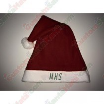 Fleece Maroon Santa Hat
