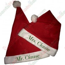 Mr. Claus & Mrs. Claus Hat Combo