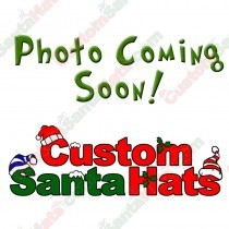 Metallic Red Fleece Santa Hat