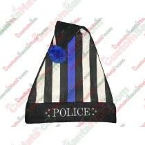 POLICE Stripe Police Santa Hat