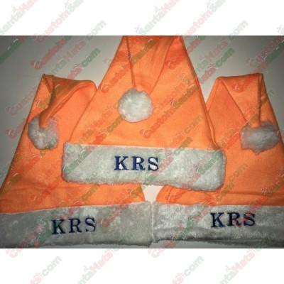 Orange Santa Hats ID-28