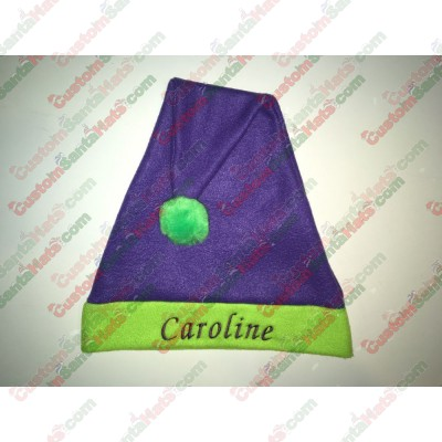 Green and Purple Santa Hats ID-32