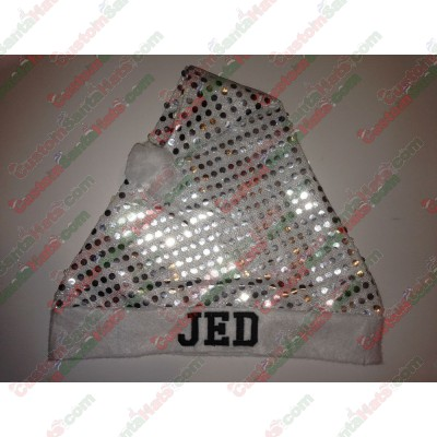 Silver Sequin Santa Hats ID-95