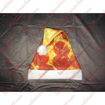 Pizza Santa Hat ID-13