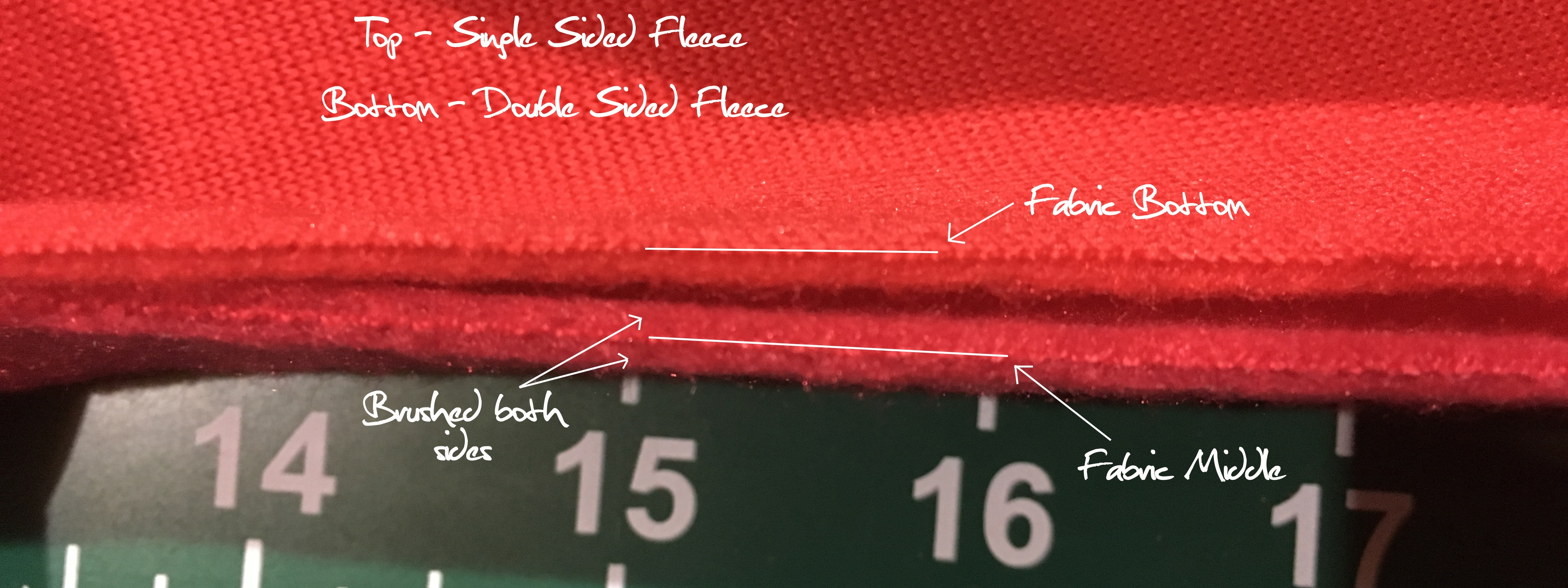 Double sided fleece vs Single sided fleece