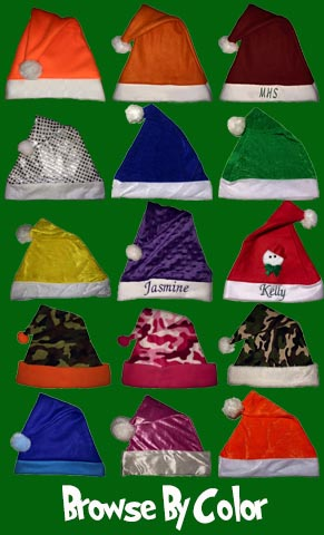 Custom Santa Hats browse all colors