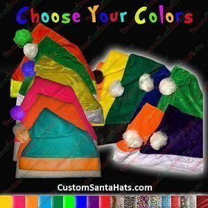 Custom Colors Santa Hat