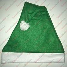 Fleece Green Santa Hat