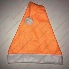 Fleece Orange Santa Hat