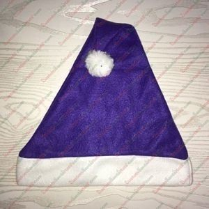 Fleece Purple Santa Hat